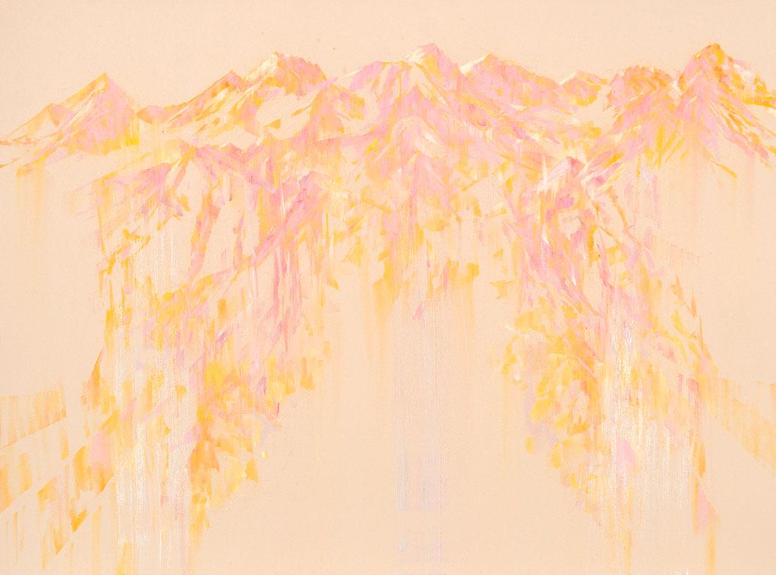 2. 'Reign down', 2016 <br/> pastel on archival paper, 71 x 89 cm framed