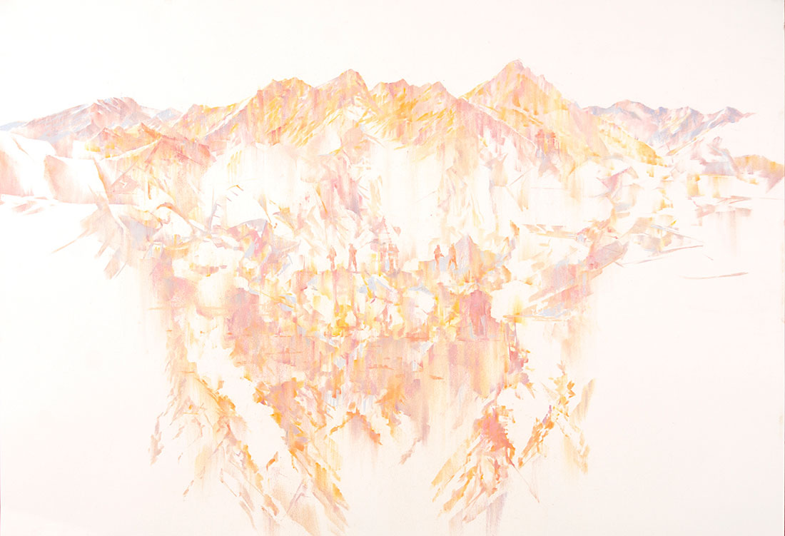 5. 'The eyes have walls', 2016 <br/> pastel on archival paper, 93 x 127 cm framed