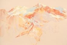1. 'Home on the test range', 2016 <br/> pastel on archival paper, 71 x 89 cm framed