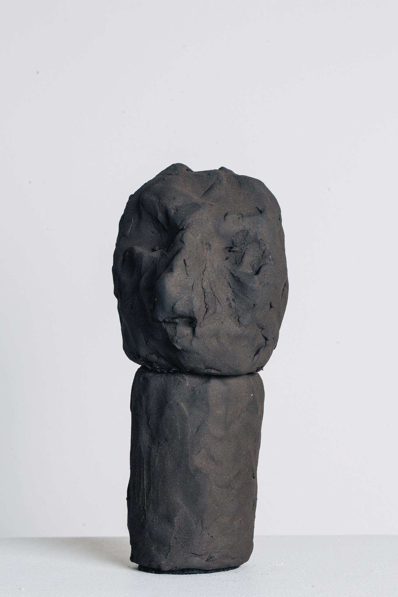 'Golem I', 2016<br>English black earthstone clay, 20 x 7cm