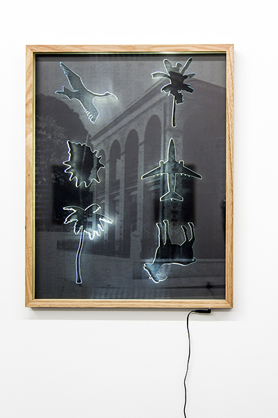 Roh Singh, Artefact, 2017<br/>acrylic, Tasmania Oak, encapsulated Pigment print, LED lighting, 63 x 78 cm, edition of 3<br/>photographed by Pia Johnson