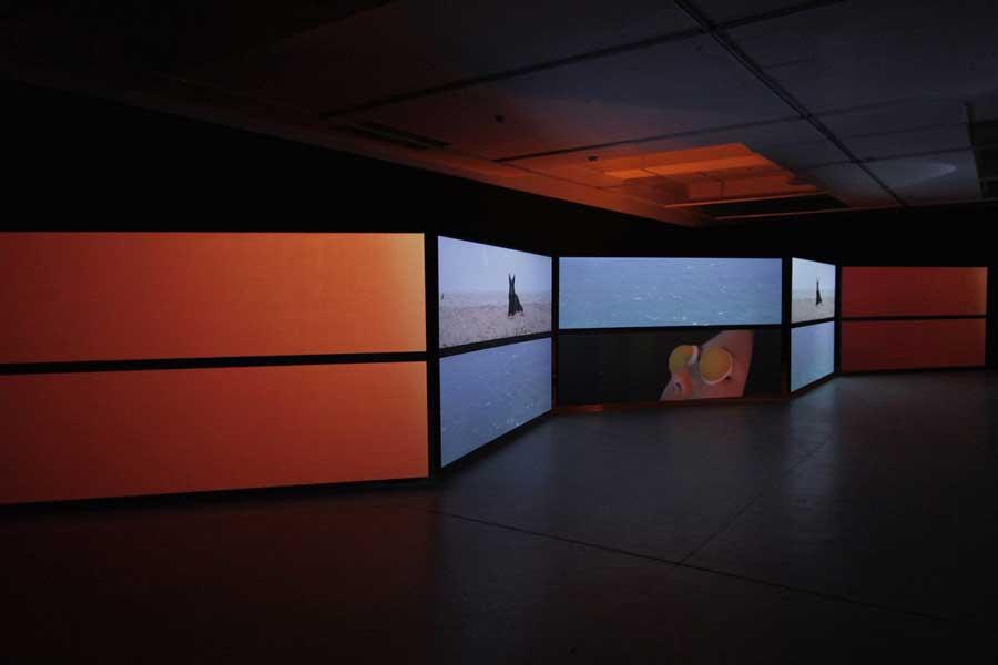 'TOTAL FIELD', 2015<br>multi-channel HD video installation