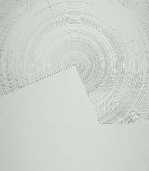 Mawson station 67.5 - 22.5 deg (Sternenachse Series), 2016<br/>Acrylic paint and graphite on board, 70 x 60 cm