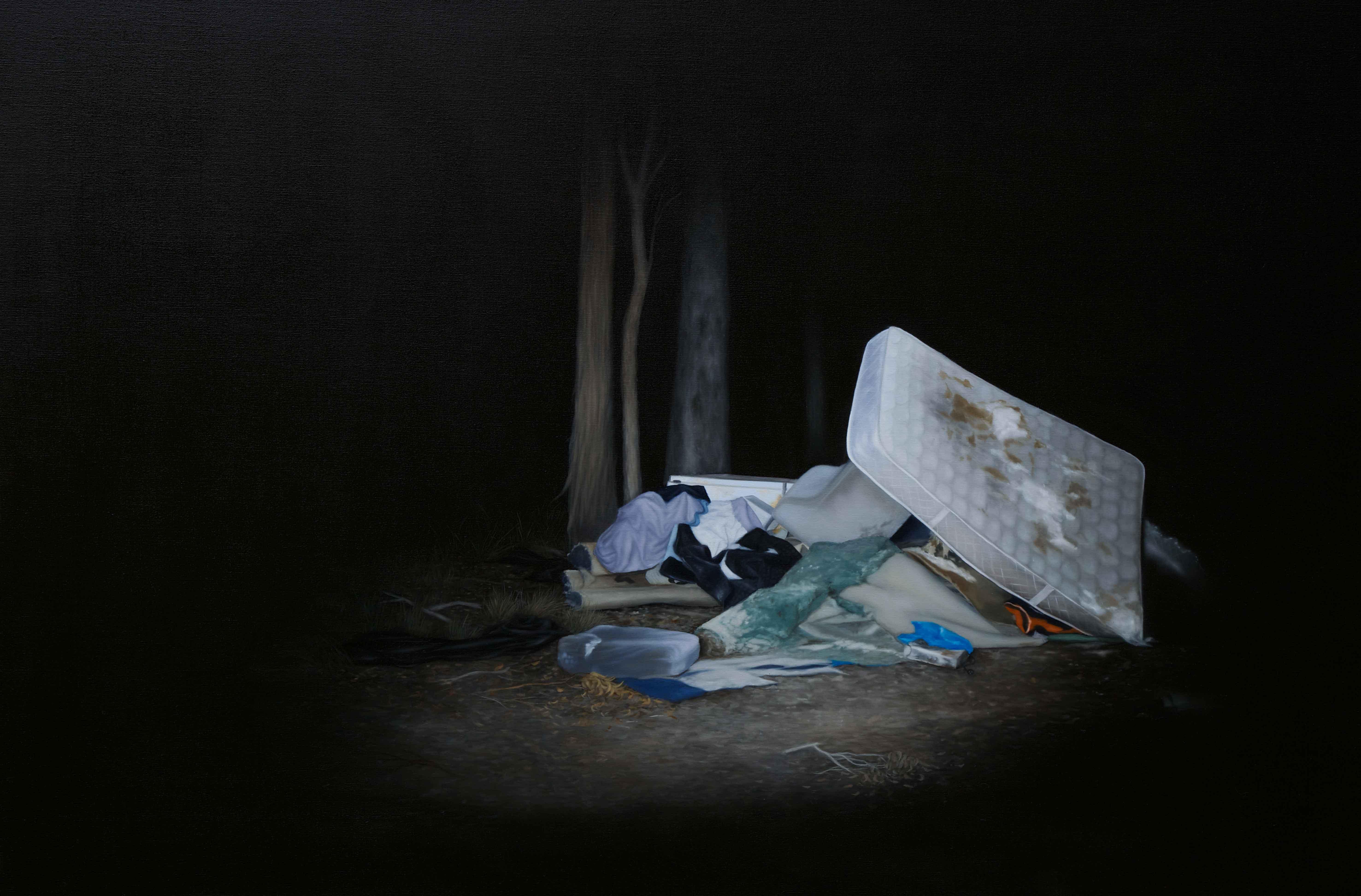 'Departed', 2016<br>oil on linen, 101 x 150 cm