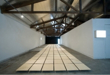 charles-anderson-in-collaboration-with-tim-schork-cloud-chamber-2011-wood-panels-dimensions-variable-installation-view-2