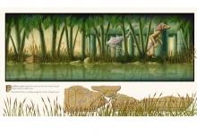 Graeme Base,'Sneaking Inside', 2011, 59 x 105 cm