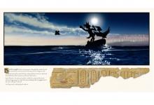 Graeme Base, 'The Jewel Fish Escapes', 2011, 59 x 105 cm