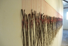 Greer Taylor, 'grandis', 2011, found Eucalyptus Grandis sticks, pins & thread, 410 x 62 x 10 cm