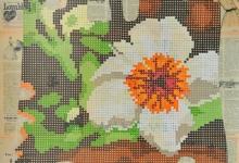hitesh-natalwala-flowering-flax-2011-gouche-on-collage-on-digital-print-106-x-86cm-framed