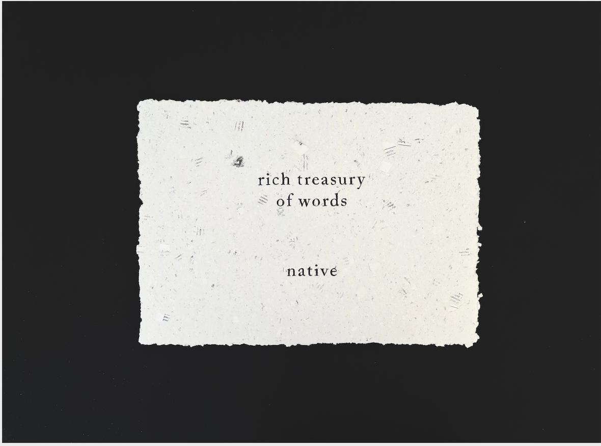 Rich treasury of words native, 2021