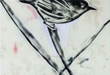jeremy-kibel-untitled-ii-2011-enamel-paint-on-tarpaulin-canvas-180-x-180cm