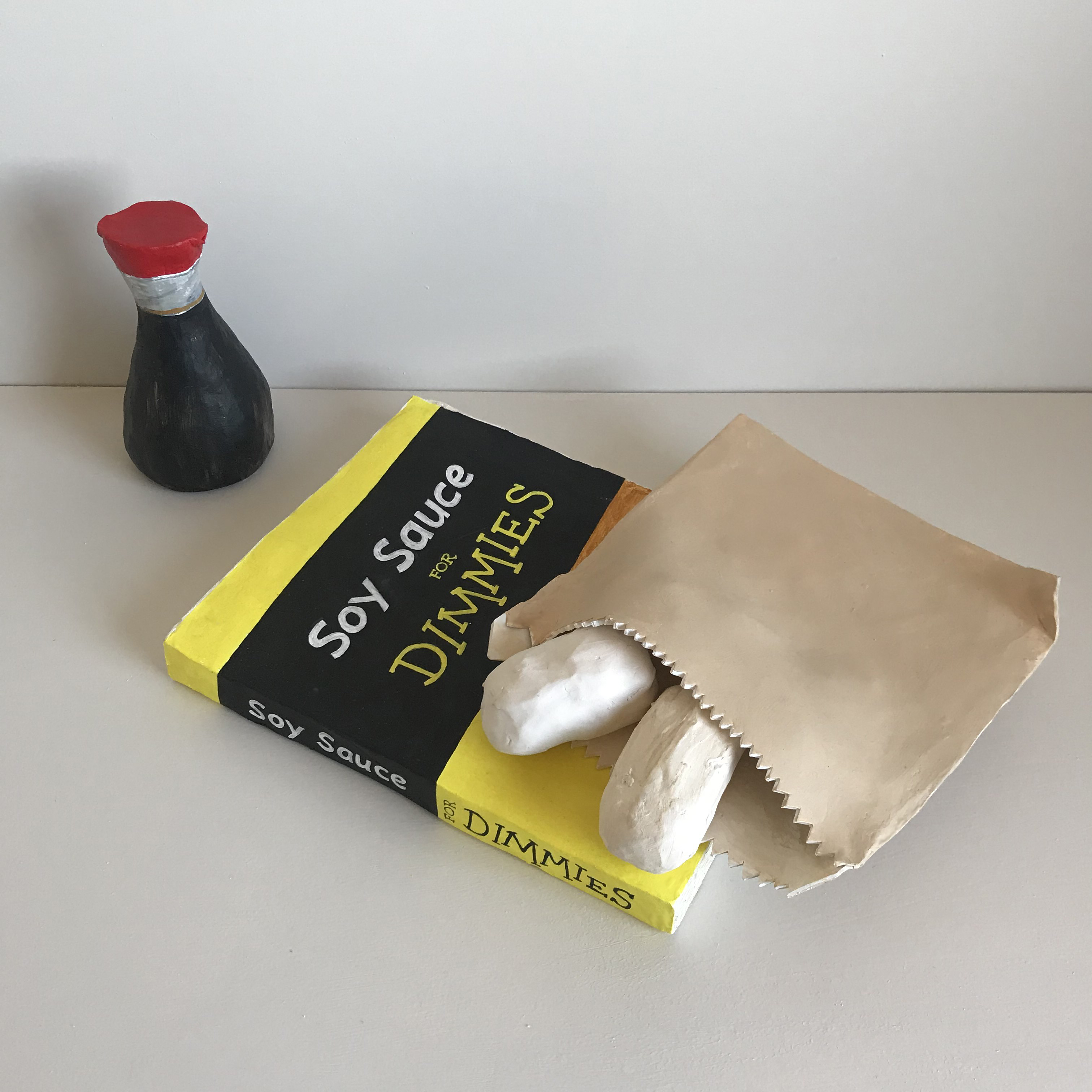 Soy Sauce For Dimmies, 2020 <br/> Acrylic on kiln fired ceramic, 45 x 35 x 25cm