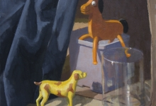 SOLD 'Yellow dog', oil on canvas, 37.5 x 46 cm, 2012