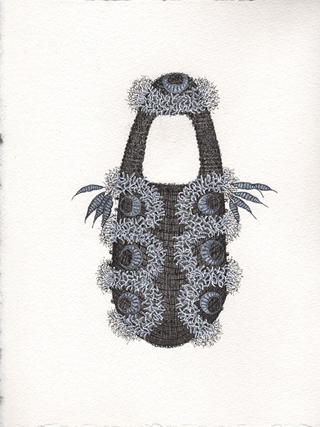 Jenny Crompton, Untitled 8, 2017 <br/> acrylic ink on paper, 38 x 28 cm