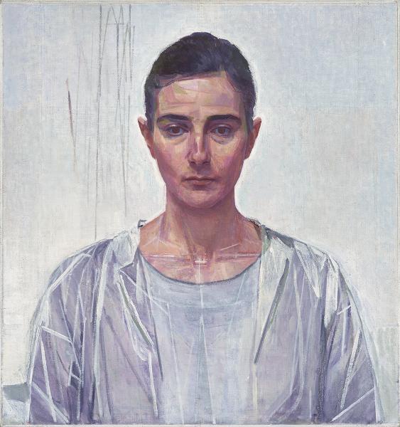 'Athanasia Theofanis', 2016 <br>oil on canvas, 47 x 49 cm
