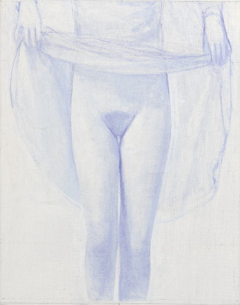 'untitled (Lilac Girl 2)', 2016, <br>oil on canvas 47 x 49 cm