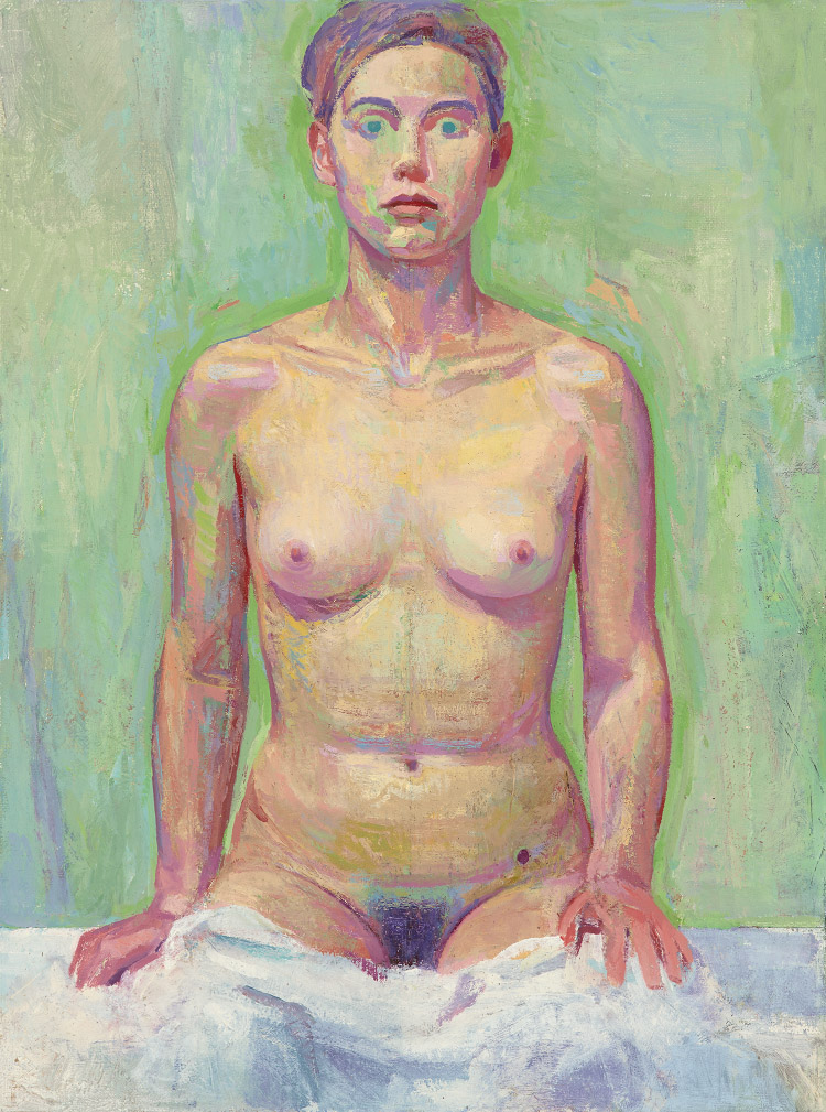 'Young Woman', 2016<br />oil on canvas, 43 x 33 cm