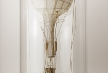 Daniel Agdag, 'The Wait', 2012, Enviro Boxboard, Trace Paper, Piano Wire, mounted on wooden base with hand-blown glass dome, 30.4 cm x 58.4 cm