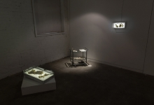 'Centre of my Sinful Earth (large x-ray box and medical trolley)', 2013, mixed media, dimensions variable