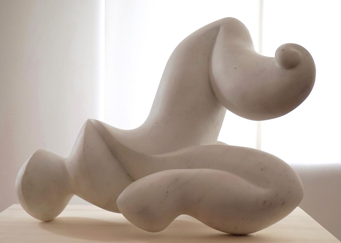 'Song', 2016,<br>Statuario White Marble, 45 x 38 x 60 cm