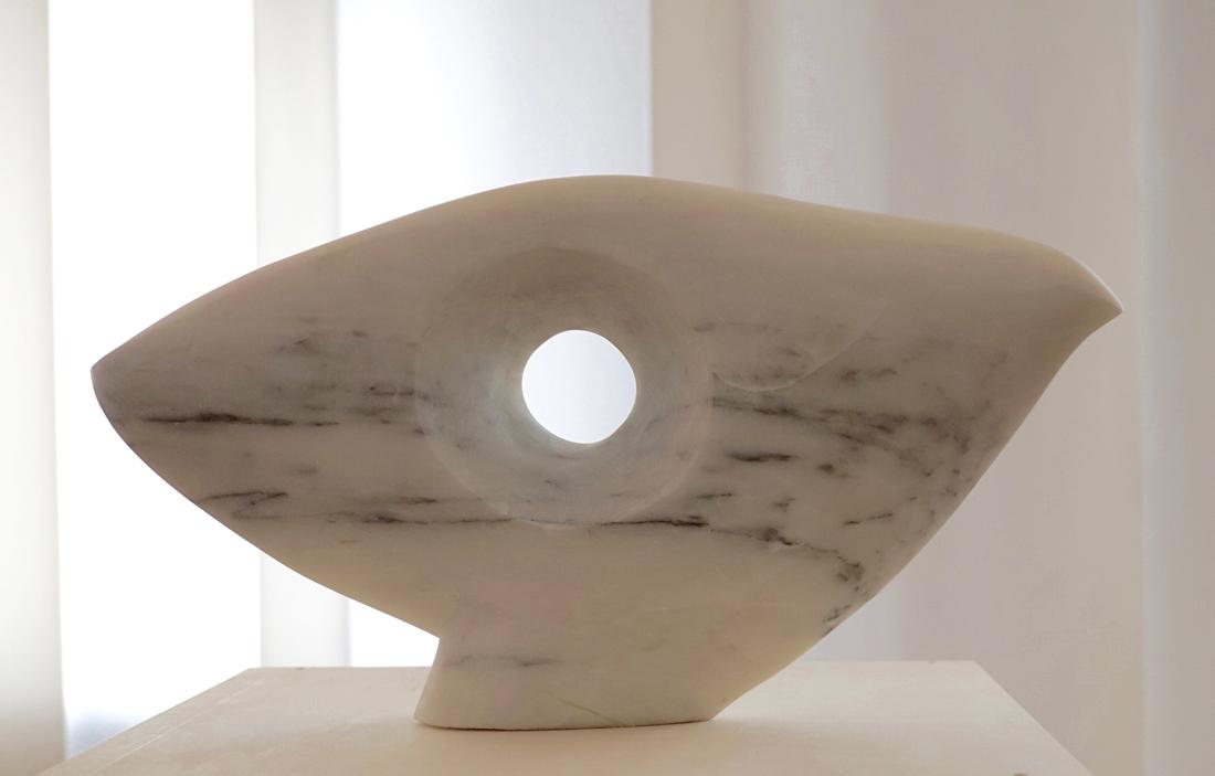 'Head Study', 2016,<br>Statuario White Marble, 10 x 44 x 10 cm