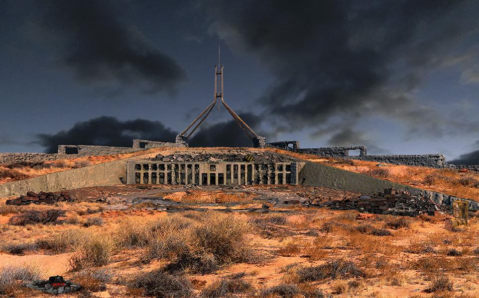 Future Photo - Parliament House, 2017 <br/>lightjet photograph, 24 x 40 cm