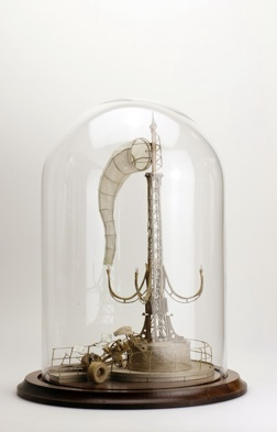 Daniel Agdag, 'The Elephant', 2012, Boxboard & trace paper mounted on wooden base with hand-blown glass dome, 25.5 x 8 cm
