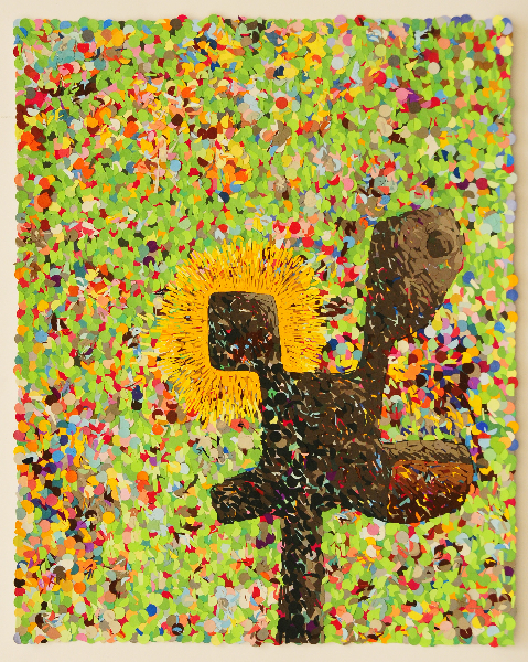 hitesh-natawala-the-emporors-old-hand-gouache-on-paper-dots-on-archival-paper-40-x-32-cms