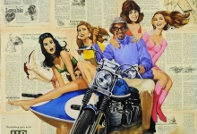 hitesh-natawala-self-portrait-with-five-white-chicks-oil-on-digital-print-on-canvas-122-x-102-cm