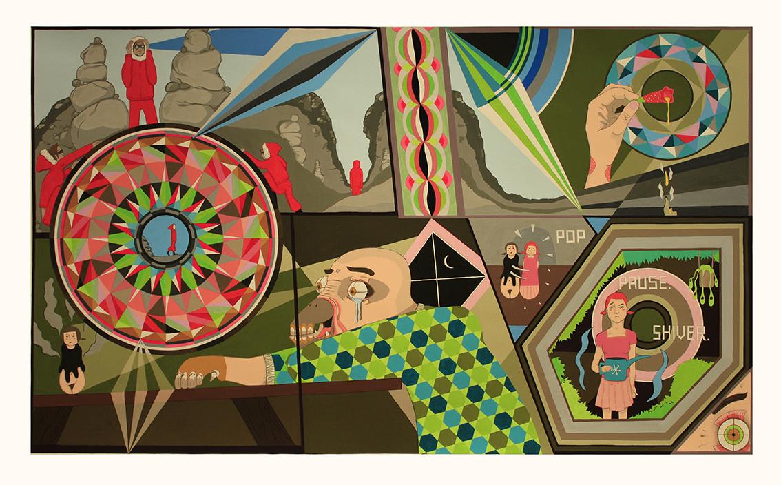 'Doppelganger', 2016<br/>Gouache on paper, 122 x 76 cm
