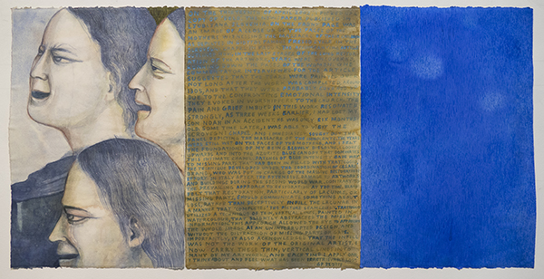 Gregory Pryor, April 13 2002, 2017<br/>watercolour on paper, 56 x 37 cm (each panel)